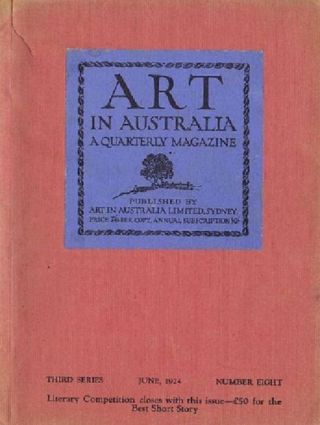 ART IN AUSTRALIA: THIRD SERIES, NUMBER EIGHT. Art in Australia 03/08