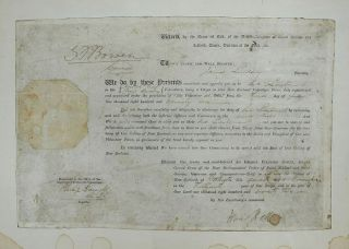 MILITARY COMMISSION, dated 3rd July 1871, New Zealand Volunteer Force, James Lindsay