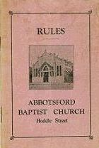 RULES. Abbotsford Baptist Church.