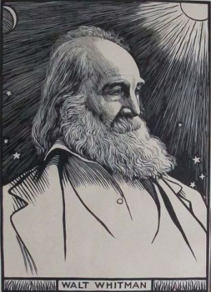 WALT WHITMAN: 19th century woodcut. R. Bryden, Walt Whitman, Artist