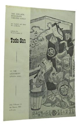 TODA-SAN by Hal Porter. The Adelaide University Theatre Guild