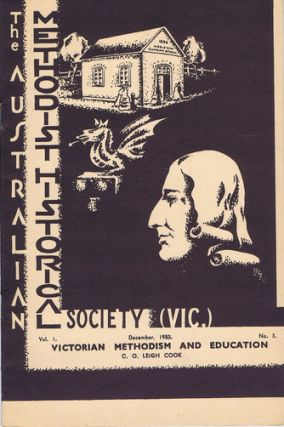 WESLYAN EDUCATION IN VICTORIA BEFORE 1872. C. O. Leigh Cook.