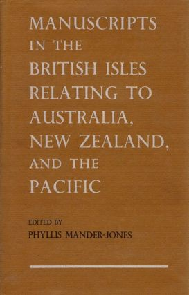 MANUSCRIPTS IN THE BRITISH ISLES. Phyllis Mander-Jones.