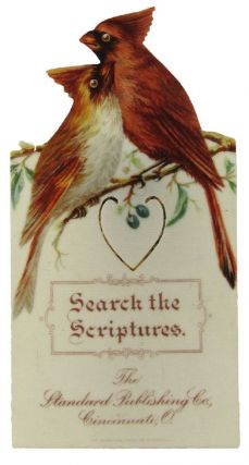 SEARCH THE SCRIPTURES BOOKMARKER (c.1900). Bible celluloid bookmarker