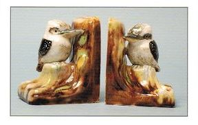KOOKABURRAS BY GRACE SECCOMBE GREETING CARD. Australian Bookends Card.