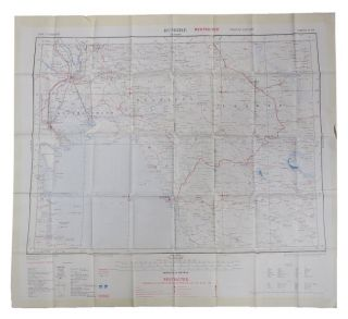 CLOTH MAP - BUSHIRE - TEHRAN. British Army
