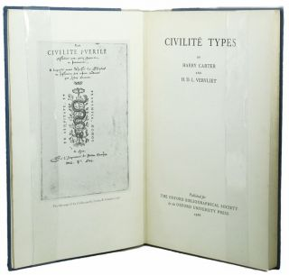 CIVILITE TYPES. Harry Carter, H. D. L. Vervliet