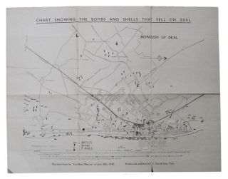 CHART SHOWING THE BOMBS AND SHELLS THAT FELL ON DEAL. East Kent Mercury