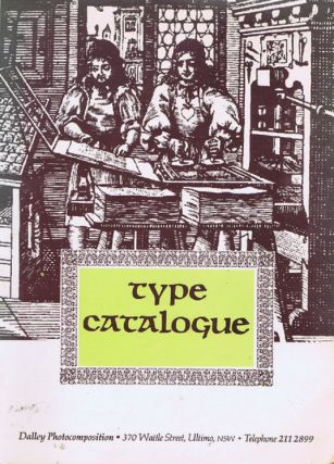 TYPE CATALOGUE. [cover title]. Dalley Photocomposition, Compiler