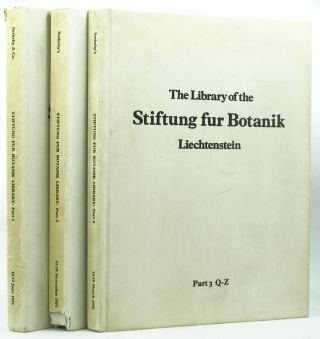 THE MAGNIFICENT BOTANICAL LIBRARY of the Stiftung fur Botanik Vaduz Liechtenstein, Arpad Plesch,...