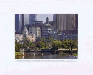 YARRA RIVER VIEW TOWARDS THE FORUM CINEMA AND THE T & G BUILDING. Christopher Sanders, Photographer