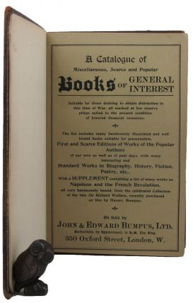 A BOUND COLLECTION OF BOOKSELLER'S CATALOGUES.
