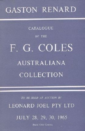 F. G. COLES AUSTRALIANA COLLECTION. F. G. Coles, Gaston Renard, Compiler