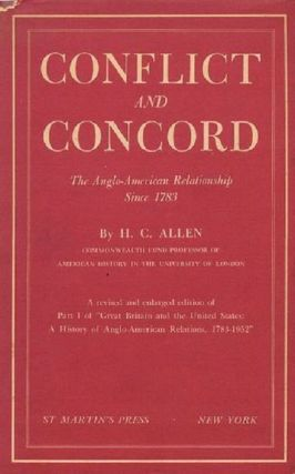 CONFLICT AND CONCORD. H. C. Allen