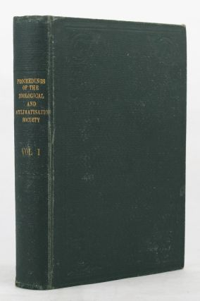 PROCEEDINGS OF THE ZOOLOGICAL AND ACCLIMATISATION SOCIETY OF VICTORIA,