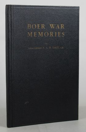 BOER WAR MEMORIES. Lieut.-Colonel F. A. B. Daly