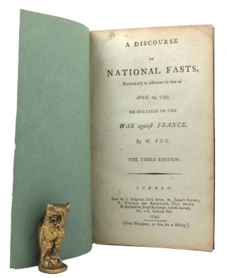A DISCOURSE ON NATIONAL FASTS, Particularly in reference to that of April 19, 1793, on occasion...