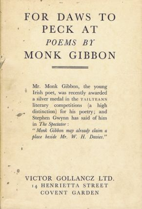 FOR DAWS TO PECK AT. Monk Gibbon.
