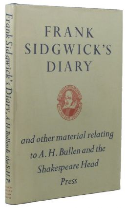 FRANK SIDGWICK'S DIARY, Frank Sidgwick.