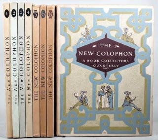 THE NEW COLOPHON. Elmer Adler, others