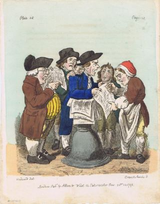 NEWS VENDERS AT BRISTOL]. I. Cruikshank, Engraver