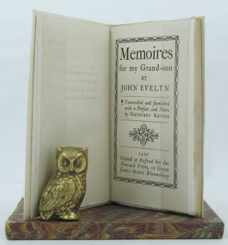 MEMOIRES FOR MY GRAND-SON. John Evelyn