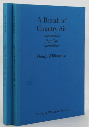 A BREATH OF COUNTRY AIR. Henry Williamson