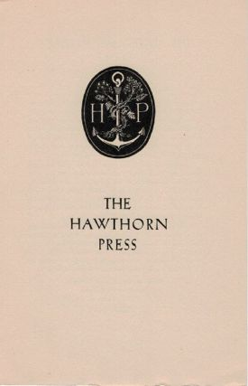 THE HAWTHORN PRESS [cover title]. Hawthorn Press ephemera