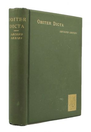 OBITER DICTA: SECOND SERIES. Augustine Birrell.