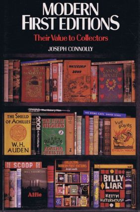 MODERN FIRST EDITIONS. Joseph Connolly.