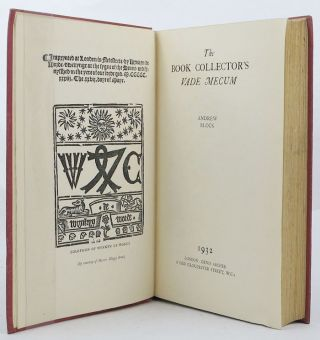 THE BOOK COLLECTOR'S VADE MECUM. Andrew Block