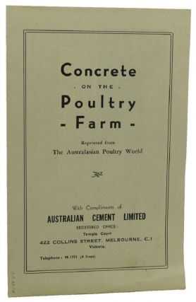 CONCRETE ON THE POULTRY FARM:. W. W. Scott