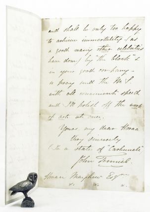 AUTOGRAPH LETTER, Signed, from John Tenniel to Horace [Mayhew].