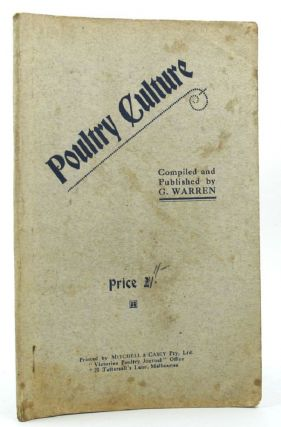 POULTRY CULTURE. G. Warren.
