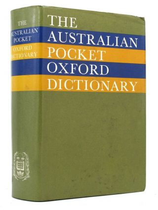THE AUSTRALIAN POCKET OXFORD DICTIONARY. Grahame Johnston
