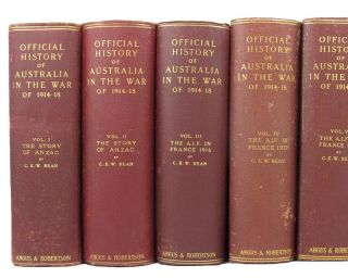 THE OFFICIAL HISTORY OF AUSTRALIA IN THE WAR OF 1914-1918 [series title]. C. E. W. Bean