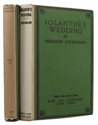 IOLANTHE'S WEDDING. Hermann Sudermann