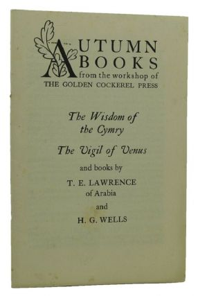 AUTUMN BOOKS FROM THE WORKSHOP OF THE GOLDEN COCKEREL PRESS [cover title]. Golden Cockerel Press...