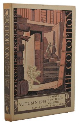 THE COLOPHON: NEW SERIES. Elmer Adler, others