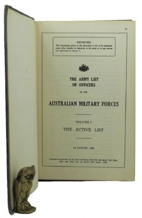THE ARMY LIST OF OFFICERS OF THE AUSTRALIAN MILITARY FORCES. Australian Military Forces