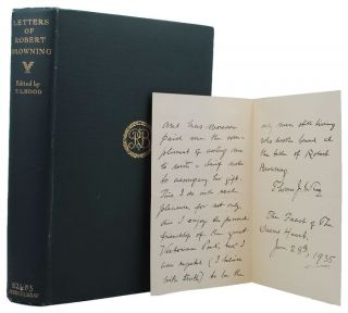 LETTERS OF ROBERT BROWNING. Robert Browning