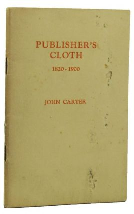 PUBLISHER'S CLOTH. John Carter