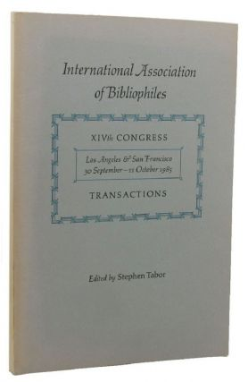 A SCANDAL IN AMERICA: The Forgeries of T. J. Wise and H. Buxton Forman. Nicolas Barker