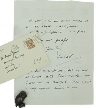 AUTOGRAPH LETTER, SIGNED, FROM JOHN CARTER TO MAURICE FIRUSKI. John Carter