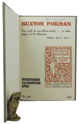 A CATALOGUE OF BOOKS AND PAMPHLETS from the library of Maurice Buxton Forman. Maurice Buxton Forman